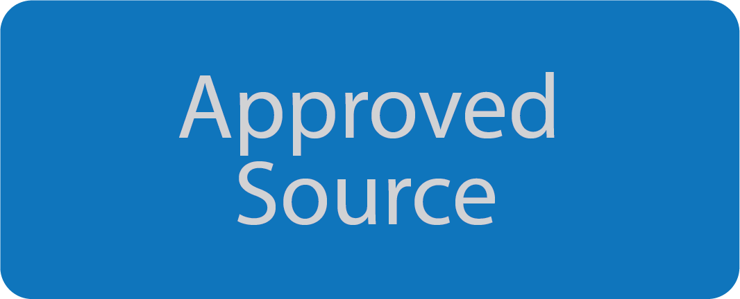 English Approved Source badge